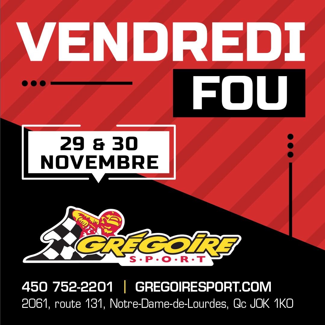 Vendredi Fou Grégoire Sport