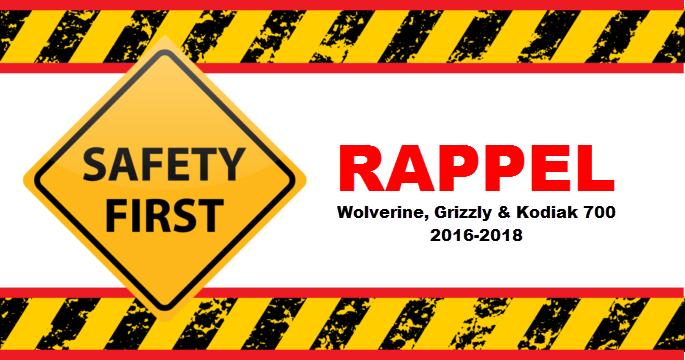 Rappel Wolverine, Grizzly & Kodiak 700 2016-2018