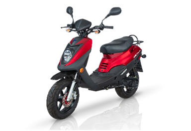 scooter adly GTC-50 rouge